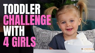 We Did the Toddler Challenge with All FOUR Girls! Kid's candy challenge