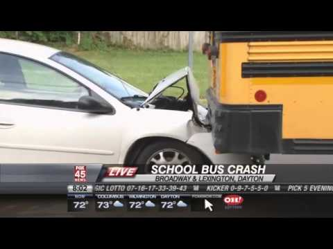 Car Crashes into Dayton School Bus