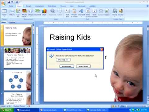 Adding a Soundtrack in PowerPoint 2007