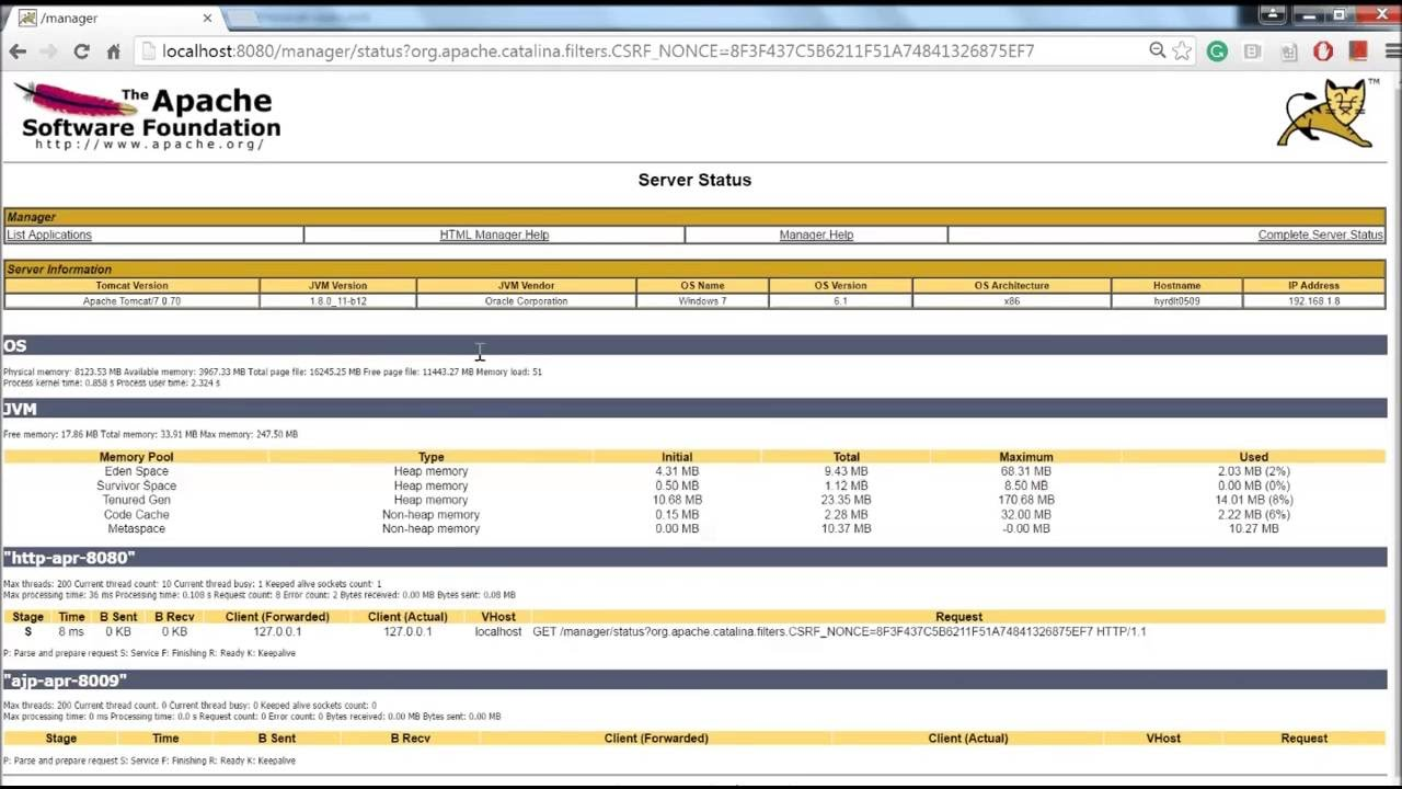 Tomcat Admin Console