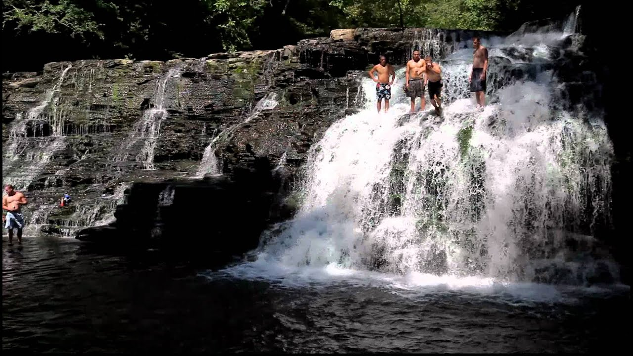 Diving From Rutledge Falls Tennessee Youtube