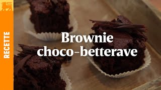 Brownie choco-betterave