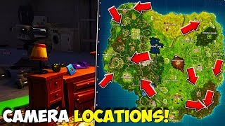 ALL FILM CAMERA LOCATIONS IN FORTNITE | Dance In Front Of Different Film Cameras, SEASON 4 CHALLENGE