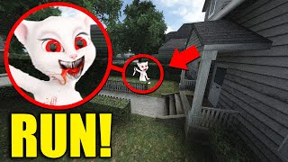 If You See Creepy TALKING ANGELA Outside Your House, RUN AWAY FAST!!