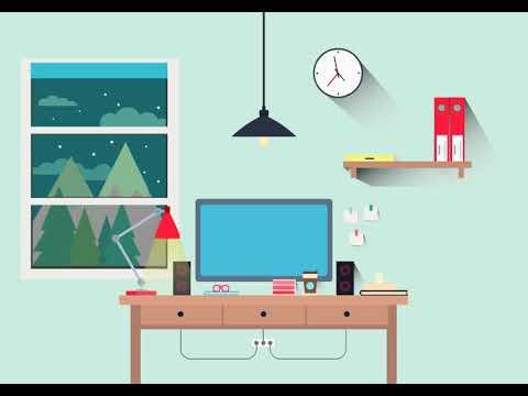 Vector study room Animation