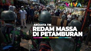Ricuh di Petamburan, Massa Ditenangkan TNI