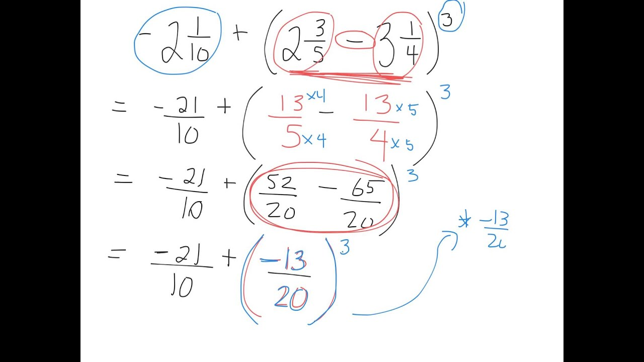 evaluating an expression with negative fraction bases 1.6 gr 9 ...