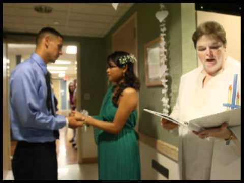 Wedding Lowell General Hospital one day after baby's birth