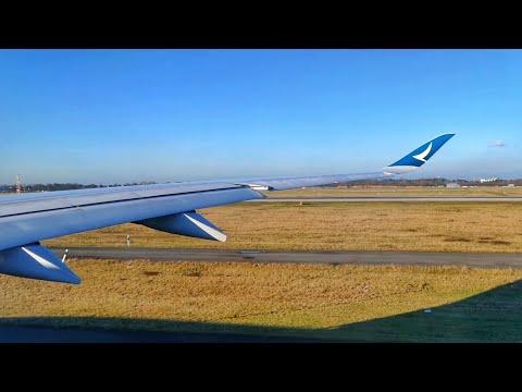 Cathay Pacific A350-900XWB AMAZING Takeoff from Düsseldorf!