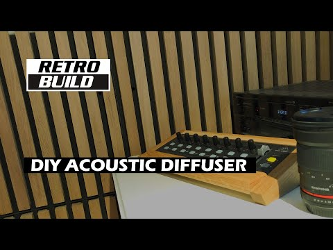 DIY Acoustic diffuser for sound studio. Massive oak wood panels. How to build Timelapse