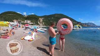 Пляж Яз, Будва, пляжи Черногории, сентябрь 2019