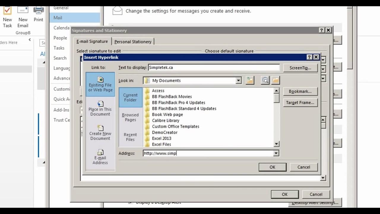 Microsoft Outlook 2013/2016 part 1 (Setup/Configure Options) - YouTube