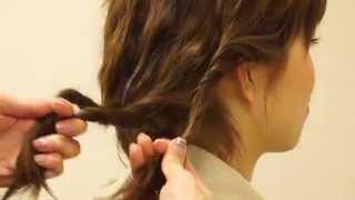 【Easy twist-braid】簡単 美容師が教える!簡単ツイスト三つ編みヘアア...