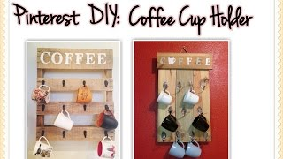 Pinterest Inspired Coffee Cup Holder DIY