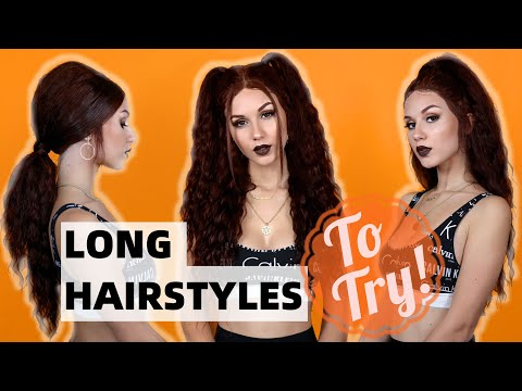 LONG HAIR HAIRSTYLES TO TRY! thumbnail