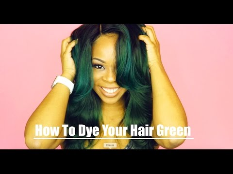 How to Dye Your hair green // Trending Topic Hair Boutique Review