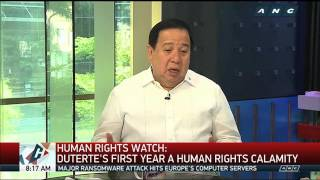 Gordon tells Human Rights Watch: Prove claim vs Duterte