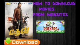 How to Download full hd movies for all languages in tamil