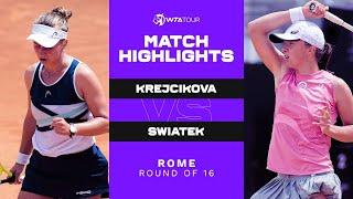 Barbora Krejcikova vs. Iga Swiatek   2021 Rome Round of 16   WTA Match Highlights