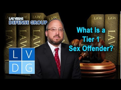 """What crimes make someone a """"tier 1 sex offender"""" in Nevada?"""