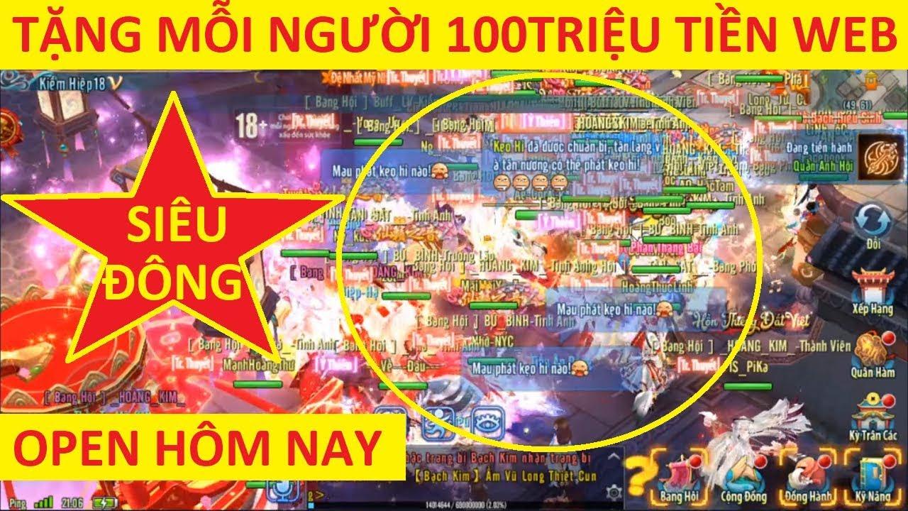 VLTK Mobile Lậu Siêu Đông | Event Khủng Tặng 1000 Acc Có 100 Triệu VNĐ Cho AE Chiến Sv Mới