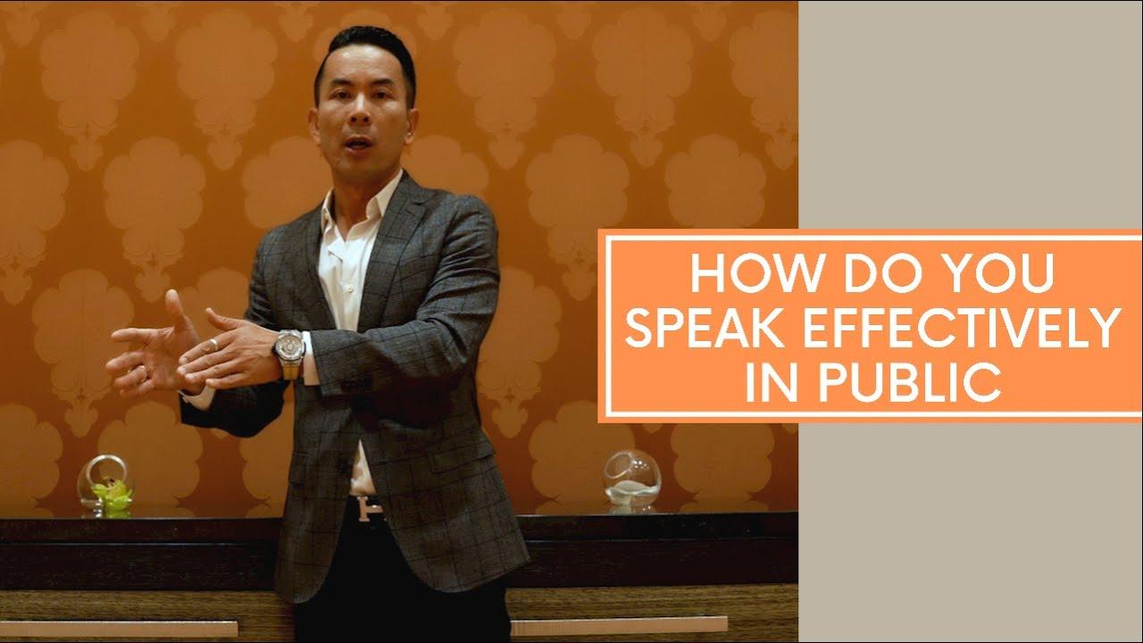 How Do You Speak Effectively In Public