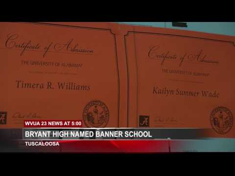 PAUL W BRYANT HIGH SCHOOL NAMED BANNER SCHOOL