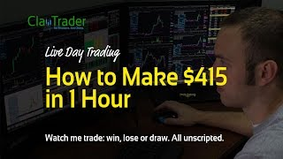 Live Day Trading - How to Make $415 in 1 Hour