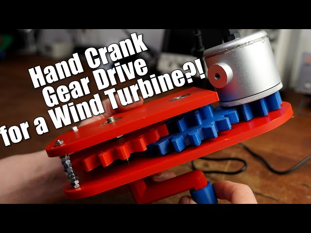 Creating a Hand Crank Gear Drive for a Wind Turbine?! || Fusion 360