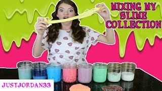 SLIME SMOOTHIE ~ MIXING ALL OF MY SLIME ~ JustJordan33
