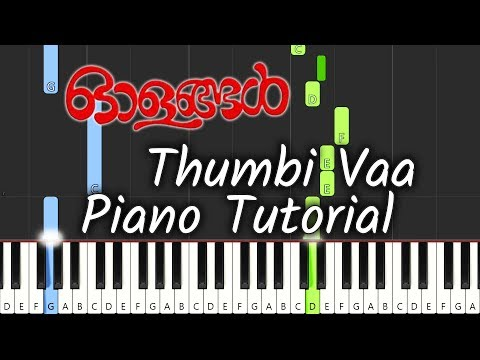 Thumbi Vaa Piano Tutorial Notes & MIDI | Olangal | Malayalam Song