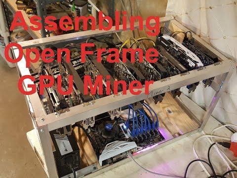 Assembling Open Frame GPU Mining Rig - ZCash, Ethereum, Zencash, etc