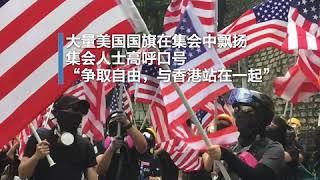 """反送中示威者请求特朗普""""解放""""香港"""