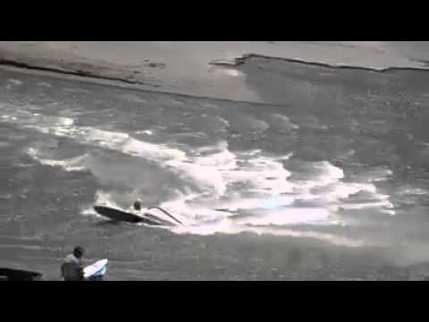 Crash at Luderitz canal - Windsurf