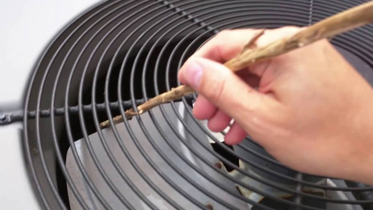 How to reset or fix your air conditioner yourself  Fan won't spin as the  capacitor is broken