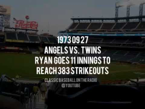 1973 09 27 Angels vs Twins Ryan Goes After The Single Season K Record Called by Dick Enberg