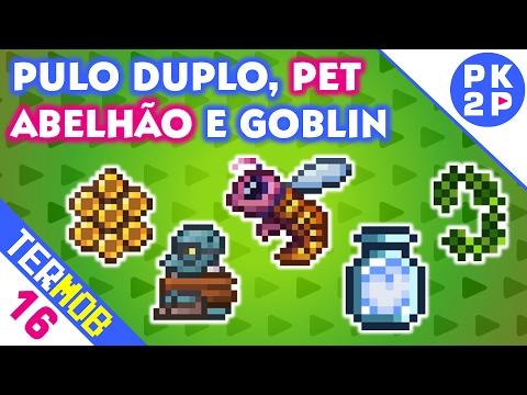 Cera de Abelha, Resgatando o Goblin e Pulo Duplo! • Terraria Mobile #16