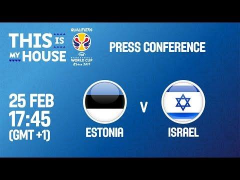 Estonia v Israel - Press Conference - FIBA Basketball World Cup 2019 - European Qualifiers
