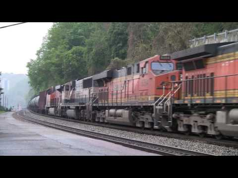 Amtrak, BNSF, And CSX At Charleston, WV [HD]