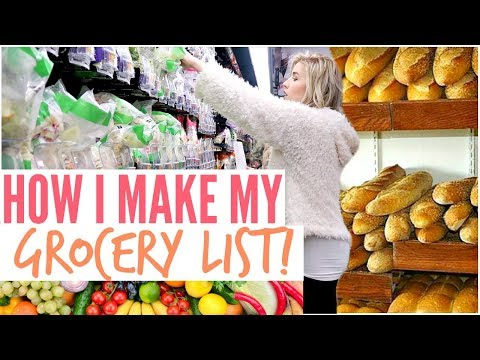 ����HOW I MAKE MY GROCERY LIST| GROCERY SHOP WITH ME AND HAUL 2019 | Love Meg