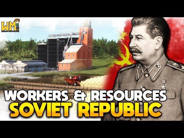 🔴 CRIEI MINHA NAÇÃO COMUNISTA!   Workers & Resources Soviet Republic AO VIVO - Gameplay PT BR