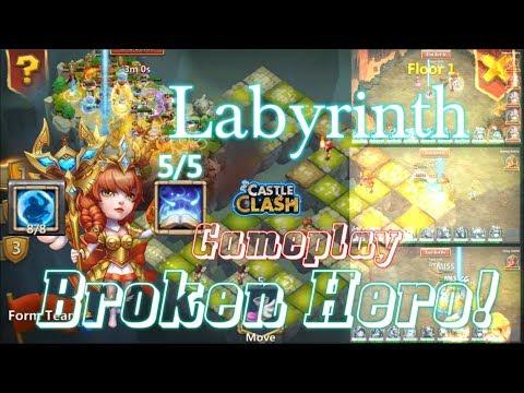 Broken Hero Athene Labyrinth Gameplay WOW! Castle Clash