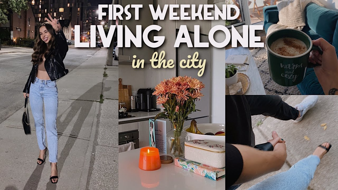 LIVING ALONE IN THE CITY 🏙️ night out, bf visits, shopping, cleaning | VLOG