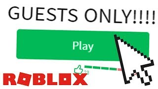 GUEST ONLY ROBLOX GAMES!
