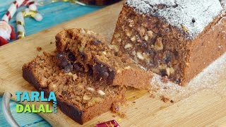 Plum Cake, Eggless Plum Cake (Christmas Special Recipe) by Tarla Dalal