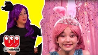 Golden Chocolate Easter Egg Hunt 🍫 Magic Pranks! - Princesses In Real Life | WildBrain Kiddyzuzaa