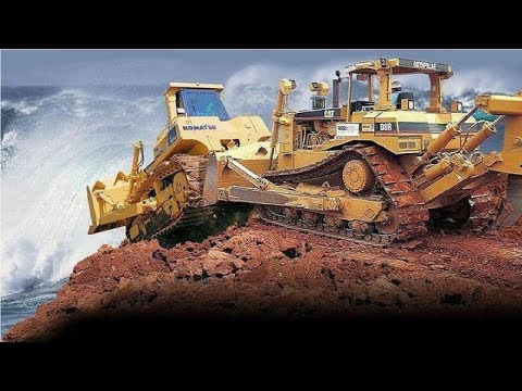 Extreme Dangerous Bulldozer Heavy Equipment Operator Skill - Amazing Modern Construction Machinery