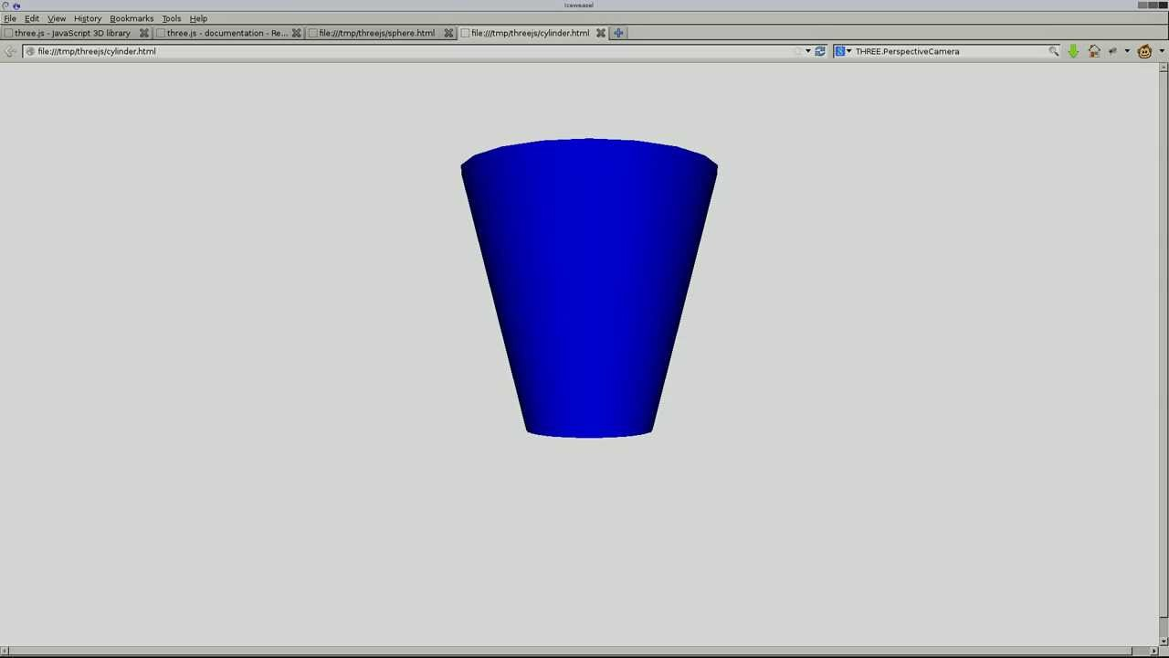 Create a Basic 3D Shapes in HTML5 with Threejs Linux Tutorial