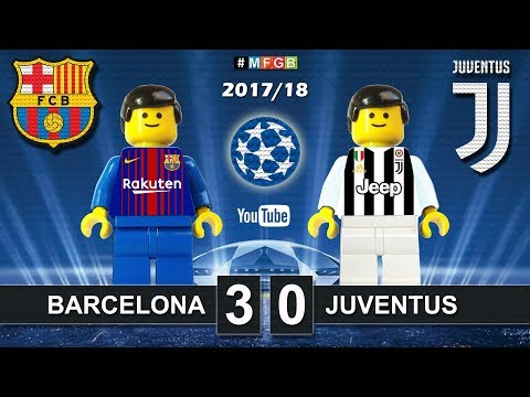 Barcelona vs Juventus 3-0 • Champions League  (12/09/2017) • Goals Highlights Lego Football 2017/18