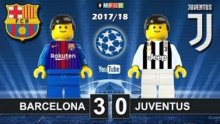 Barcelona vs Juventus 3-0 • Champions League 2017/2018 • Goals Highlights Lego Football (12/09/2017)